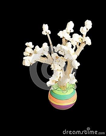 A popcorn tree, a children creativity