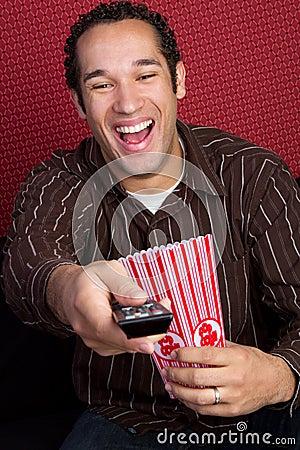 Popcorn TV Man