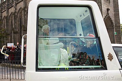 Pope Benedict XVI, Edinburgh Scotland, 16.09.2010 Editorial Stock Photo