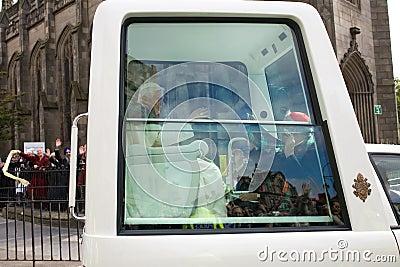 Pope Benedict XVI, Edinburgh Scotland, 16.09.2010 Editorial Stock Photo