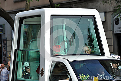 Pope Benedict XVI in Milan on June, 1st 2012 Editorial Photo