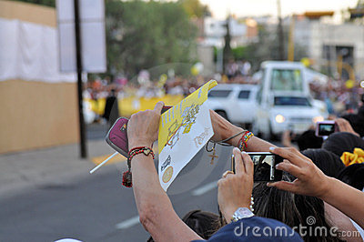 Pope Benedict XVI visit to Mexico Editorial Image