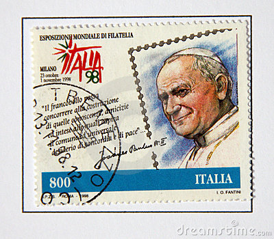 Pope John Paul II Editorial Photo