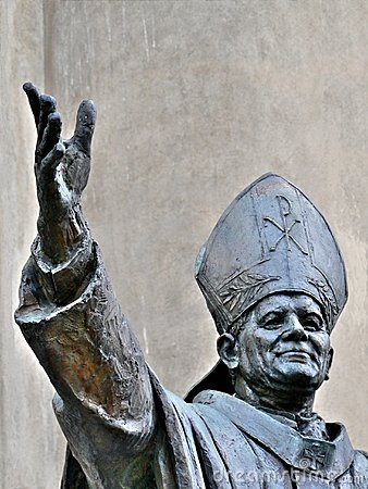 Pope John Paul II statue Editorial Photography