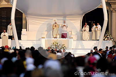 Pope Joseph Benedykt XVI Fotografia Editorial