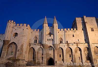 Pope s palace in Avignon Fance