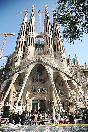 Pope s visit Sagrada Familia Editorial Stock Photo