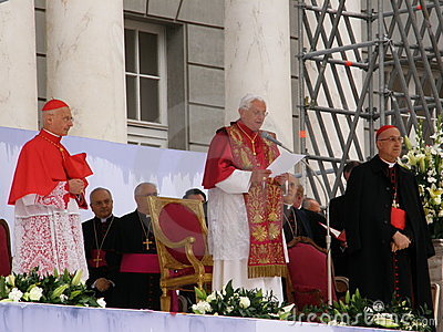 The Pope visits Genoa Editorial Stock Photo