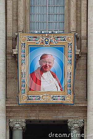 Free Popes John XXIII And John Paul II To Be Canonized Stock Photography - 40161132
