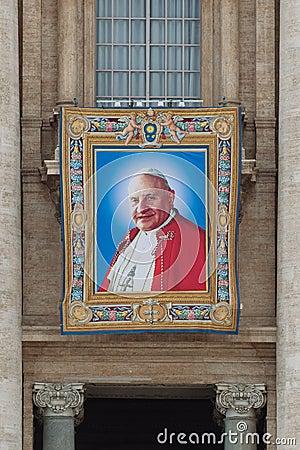 Popes John XXIII and John Paul II to be Canonized Editorial Stock Photo