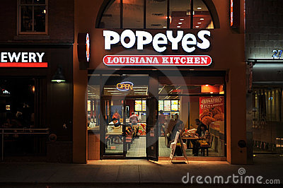 Popeye's Louisiana Kitchen Editorial Stock Image