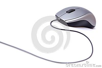 Popielata komputer mysz