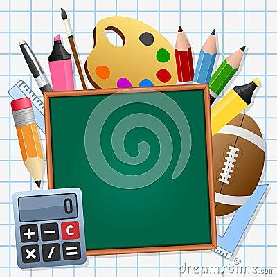 Popiera szkoły zieleni Chalkboard