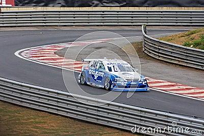 Popo Blue Racing Stock Car Interlagos Sao Paulo Editorial Stock Photo