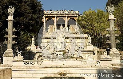 Popolo square, Rome. Italy