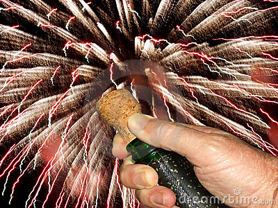 Popping the champagne cork