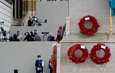 Poppy Appeal on Armistice Day, Whitehall, London Editorial Photo