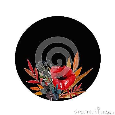 Poppy flowers illustration Cartoon Illustration
