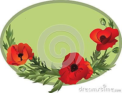 Poppy oval