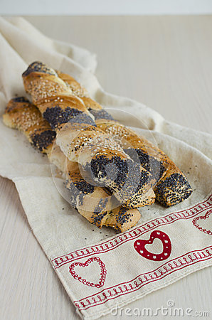 Poppy-seeds And Sesam Puff Pastry Twists