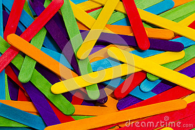 Popsicle Sticks Scattered
