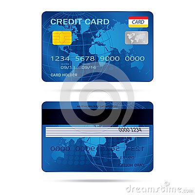 Popular blue premium extended business credit card  vect