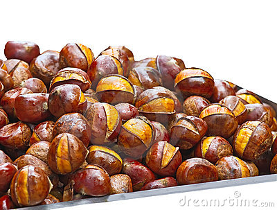 Popular Chinese snack stir fried chestnuts