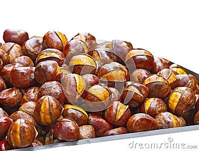Popular Chinese snack stir fried chestnuts