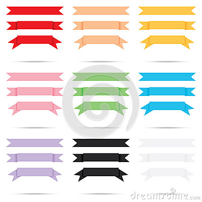 Free Popular Color Pack Ribbon Old Paper Vintage Label Banner Isolate Stock Image - 33272551