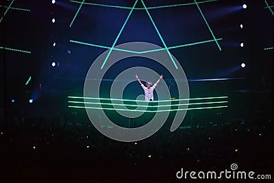 Popular DJ Armin van Buren at show ARMIN ONLY Editorial Stock Photo