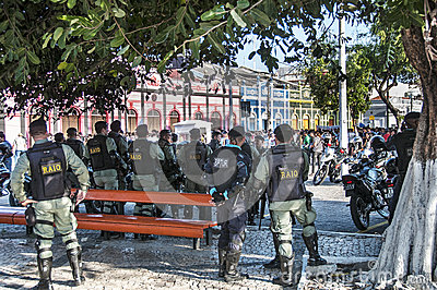 Popular protest on the day of the Independence of Brazil Editorial Stock Photo
