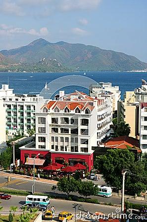 The popular resort city of Marmaris in Turkey