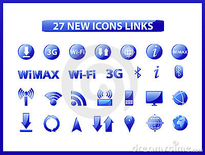 Popular web icons links