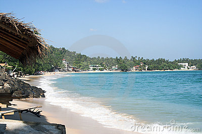 Populated beach