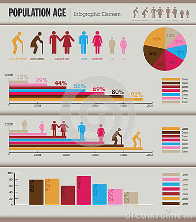 Infographic Element. Population. Royalty Free Stock Image - Image ...