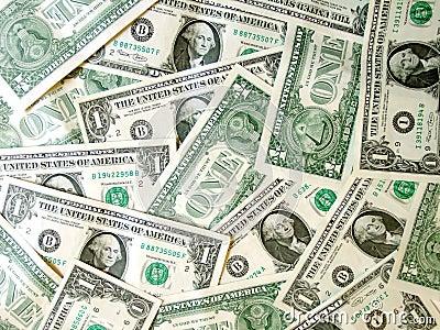 Por completo del dólar americano del dinero