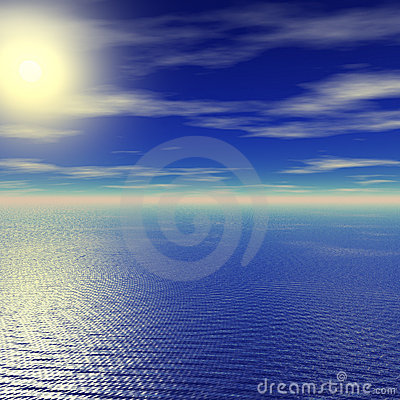 Por do sol calmo