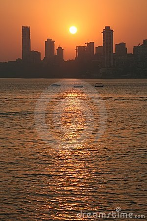 Por do sol de Mumbai
