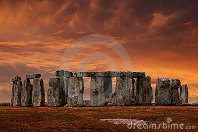 Por do sol de Stonehenge
