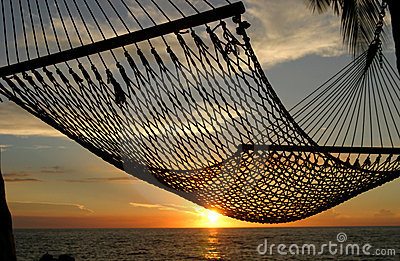 Por do sol do Hammock