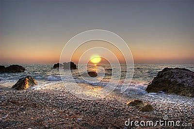 Por do sol Ionian