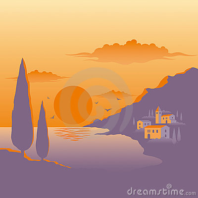 Por do sol mediterrâneo