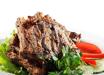 Porc grillé par boeuf