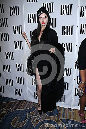 Porcelain Black at the BMI Pop Awards, Beverly Wilshire Hotel, Beverly Hills, CA 05-15-12 Editorial Stock Image