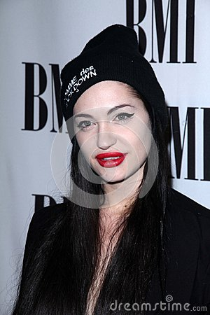 Porcelain Black at the BMI Pop Awards, Beverly Wilshire Hotel, Beverly Hills, CA 05-15-12 Editorial Photography