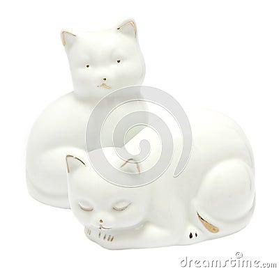 Porcelain cats