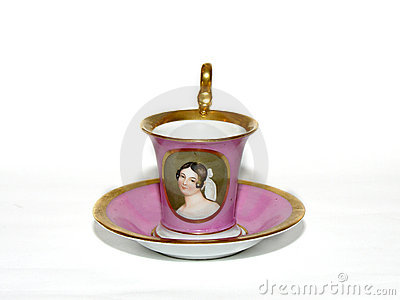 Porcelain cup of tea