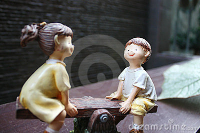 Porcelain Figurine Of Children On A See-Saw