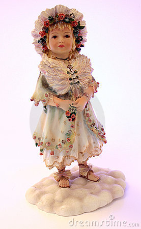 Porcelain girl figurine