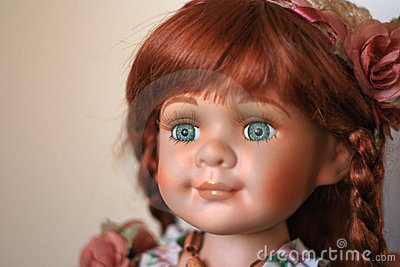 Porcelain hand-worked doll